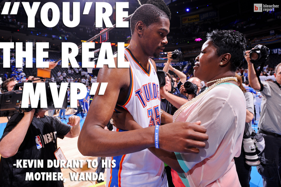 """Kevin Durant to Mom: """"You're the real MVP!"""" 